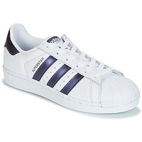 Schuhe Damen Sneaker Low adidas Originals SUPERSTAR W Weiss / Blau
