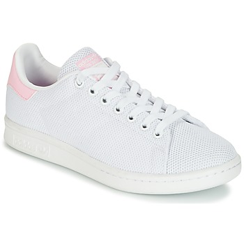 Schuhe Damen Sneaker Low adidas Originals STAN SMITH W Weiss / Rose