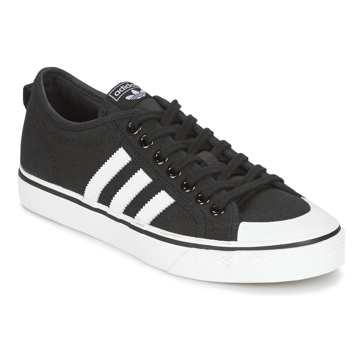 adidas Originals NIZZA Schwarz - Kostenloser Versand bei Spartoode ! - Schuhe Sneaker Low  56,00 €