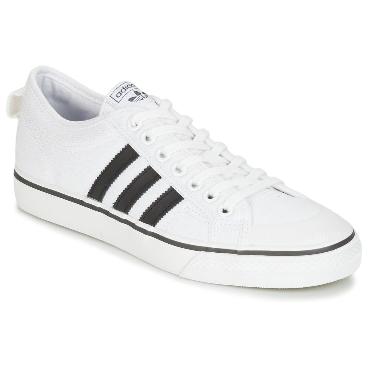 adidas Originals NIZZA Weiss - Kostenloser Versand bei Spartoode ! - Schuhe Sneaker Low  56,00 €