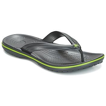 Schuhe Zehensandalen Crocs CROCBAND FLIP Schwarz / Grün