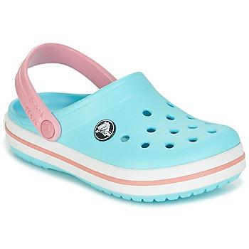 Schuhe Kinder Pantoletten / Clogs Crocs Crocband Clog Kids Blau / Rose