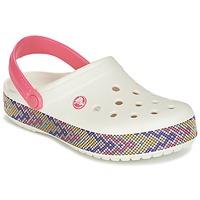 Schuhe Damen Pantoletten / Clogs Crocs CROCBAND GALLERY CLOG Weiss / Rose