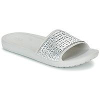 Schuhe Damen Pantoletten Crocs SLOANE GRAPHIC ETCHED SLIDE W Weiss / Silbern