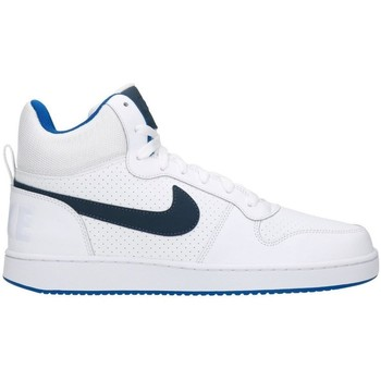 Schuhe Herren Low Boots Nike Court Borough Mid White Dunkelblau-Türkisfarbig-Weiß