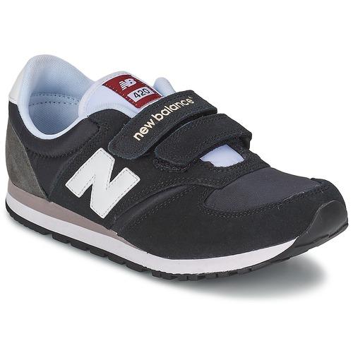 Schuhe Kinder Sneaker Low New Balance KE420 Schwarz / Grau