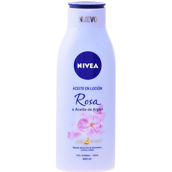 Beauty pflegende Körperlotion Nivea Aceite En Locion Rosa & Argan  400 ml