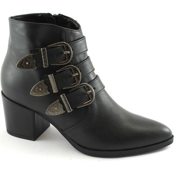 Schuhe Damen Low Boots Divine Follie DIV-I17-2017-NE Nero