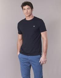Kleidung Herren T-Shirts Fred Perry RINGER T-SHIRT Marine