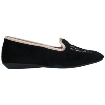 Schuhe Damen Hausschuhe Norteñas 7-980-25 Mujer Negro noir