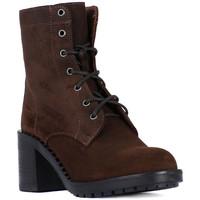 Schuhe Damen Low Boots Frau QUEEN STUD MORO Marrone