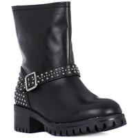 Schuhe Damen Klassische Stiefel Frau TIBET NERO METAL Nero
