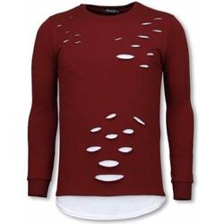 Kleidung Herren Sweatshirts Tony Backer Long Damaged Look Shirt Bordeaux