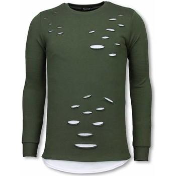 Kleidung Herren Sweatshirts Tony Backer Long Damaged Look Shirt Grün