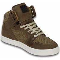 Schuhe Herren Sneaker High Cash Money Sneakers Hoch Riff Taupe Beige
