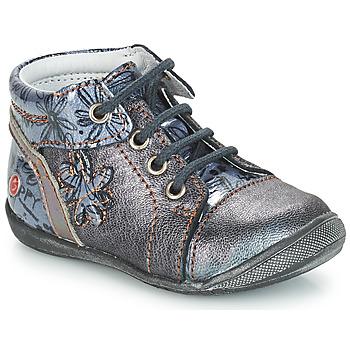 Schuhe Mädchen Boots GBB ROSEMARIE Vnv / Grau / Blau-bedruckt / Dpf / Kezia