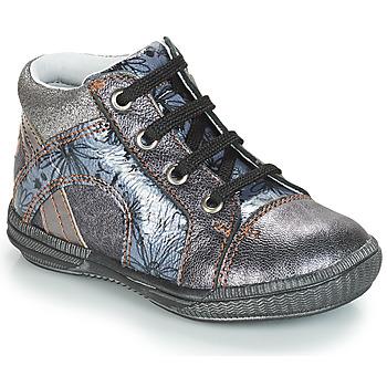 Schuhe Mädchen Boots GBB ROSETTA Vnv / Grau / Blau-bedruckt / Dpf / Sabina
