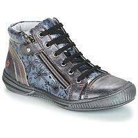 Schuhe Mädchen Boots GBB RACHIDA Vnv / Grau / Blau-bedruckt / Dpf / Sabina