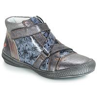 Schuhe Mädchen Boots GBB RADEGONDE Vnv / Grau / Blau-bedruckt / Dpf / Sabina