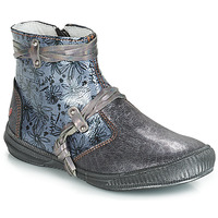 Schuhe Mädchen Boots GBB REVA Grau / Blau
