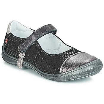 Schuhe Mädchen Ballerinas GBB RIKA Schwarz / Silbern