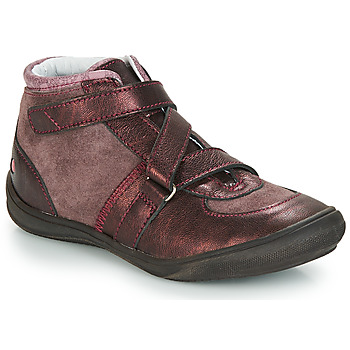 Schuhe Mädchen Boots GBB RIQUETTE Vx / Rosa-bordeau / Dpf / Regina
