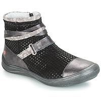 Schuhe Mädchen Boots GBB ROCHELLE Grau / Schwarz