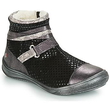 Schuhe Mädchen Boots GBB ROCHELLE Schwarz / Silbern