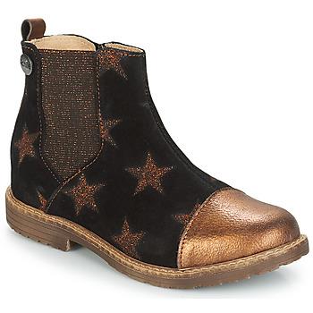 Schuhe Mädchen Boots GBB LEONTINA Schwarz / Kupfer