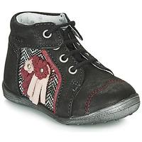 Schuhe Mädchen Boots Catimini RAINETTE Schwarz / Silbern