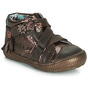 Schuhe Mädchen Boots Catimini ROQUETTE Braun / Gold