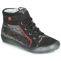 Schuhe Mädchen Sneaker High Catimini ROSIERE Schwarz / Silbern