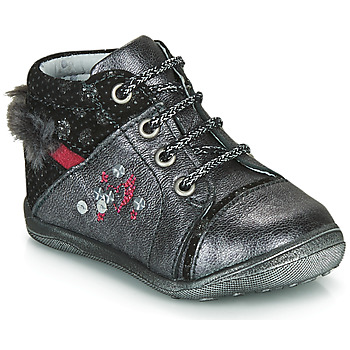 Schuhe Mädchen Boots Catimini ROULETTE Grau / Silbern