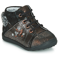 Schuhe Mädchen Boots Catimini ROULETTE Schwarz-kupfer / Dpf / Gluck