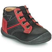 Schuhe Jungen Boots Catimini RATON Schwarz-rot / Dpf / Kimbo