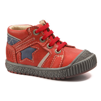 Schuhe Jungen Boots Catimini RENARD Rot-marine / Dpf / Linux