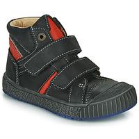 Schuhe Jungen Boots Catimini RAIFORT Schwarz / Rot