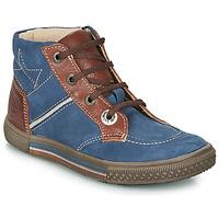 Schuhe Jungen Boots Catimini RUMEX Blau / Braun