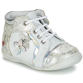 Schuhe Mädchen Boots GBB SONIA Weiss / Silbern