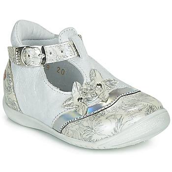 Schuhe Mädchen Ballerinas GBB SELVINA Weiss / Silbern