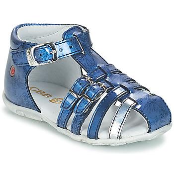 Schuhe Mädchen Sandalen / Sandaletten GBB SAMIRA Vvn / Blau-bedruckt / Dpf / Zabou