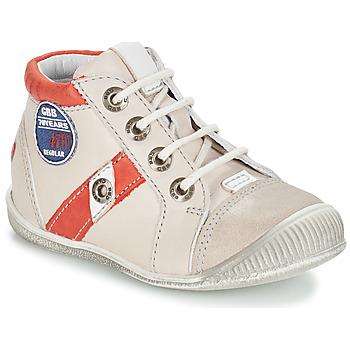 Schuhe Jungen Boots GBB SILVIO Beige / Rot
