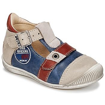 Schuhe Jungen Sandalen / Sandaletten GBB STANISLAS Marine / Beige / Rot