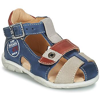 Schuhe Jungen Sandalen / Sandaletten GBB SULLIVAN Blau / Beige / Braun