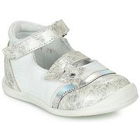 Schuhe Mädchen Ballerinas GBB STACY Weiss / Silbern