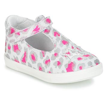 Schuhe Mädchen Ballerinas GBB SABRINA Grau / Rose / Weiss