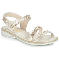 Schuhe Mädchen Sandalen / Sandaletten GBB SWAN Weiss / Gold