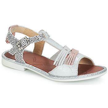 Schuhe Mädchen Sandalen / Sandaletten GBB MARIA Silbern / Weiss