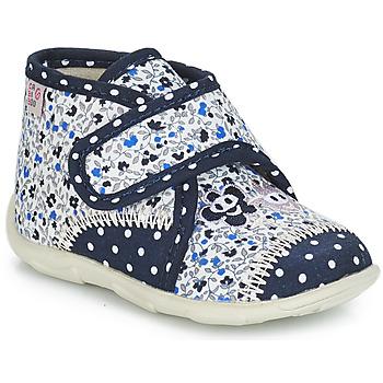 Schuhe Mädchen Hausschuhe GBB PASCALINE Blau / Weiss