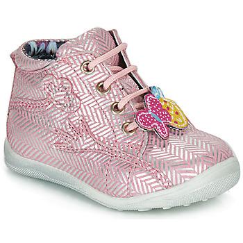 Schuhe Mädchen Boots Catimini SALAMANDRE Rosa-silber / Dpf / Gluck